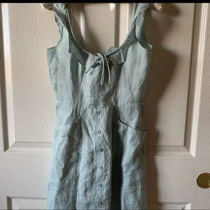 Reformation Pastel Blue Babydoll Dress w Pockets